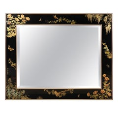 Painted Wall Mirror by T. Uandyke for La Barge