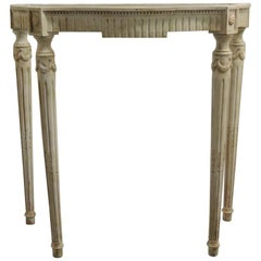 Painted White Vintage Louis XVI Style Console Table Frame