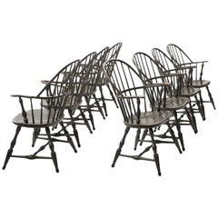 Painted Windsor Armchairs