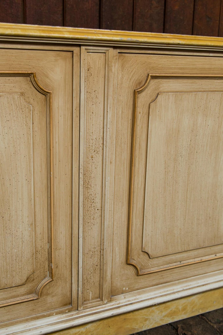 Painted Wood Four-Door Credenza, France For Sale 5