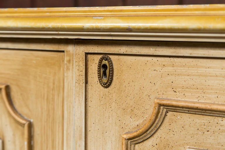 Late 20th Century Painted Wood Four-Door Credenza, France For Sale