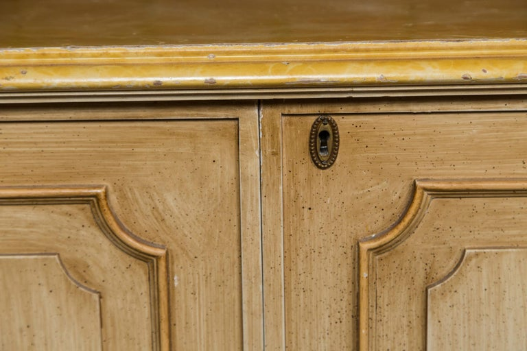 Painted Wood Four-Door Credenza, France For Sale 4