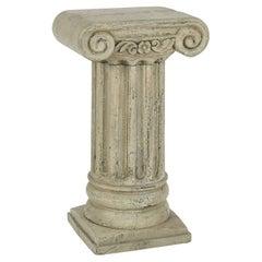 Painted Wood Pedestal Table