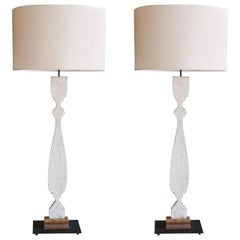 Painted Wood Silhouette Lamps