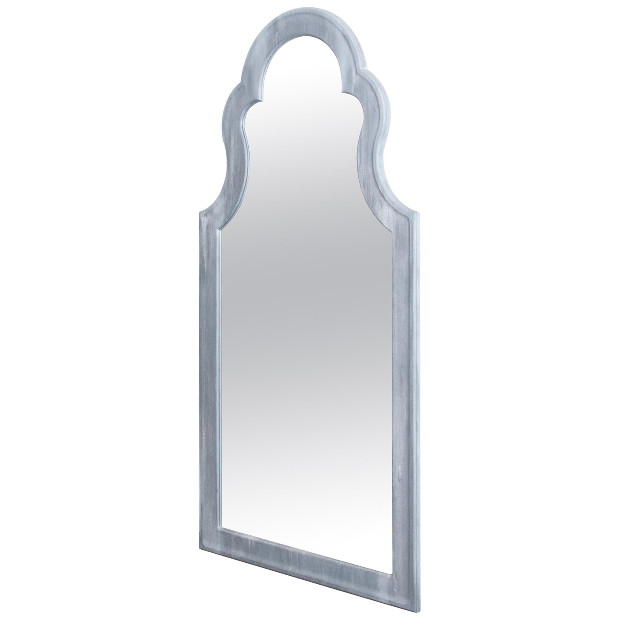 Painted Wooden Arched Tall Mirror Prototype For Sale At 1stdibs