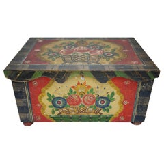 Painted Wooden Box, Early 20th Century