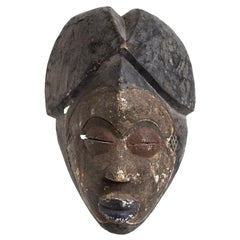 Painted Wooden Mask, Africa, 20th Century