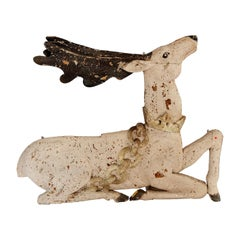 Painted Wooden Stag