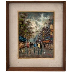 "Painting ""A crowded street in the city center"""