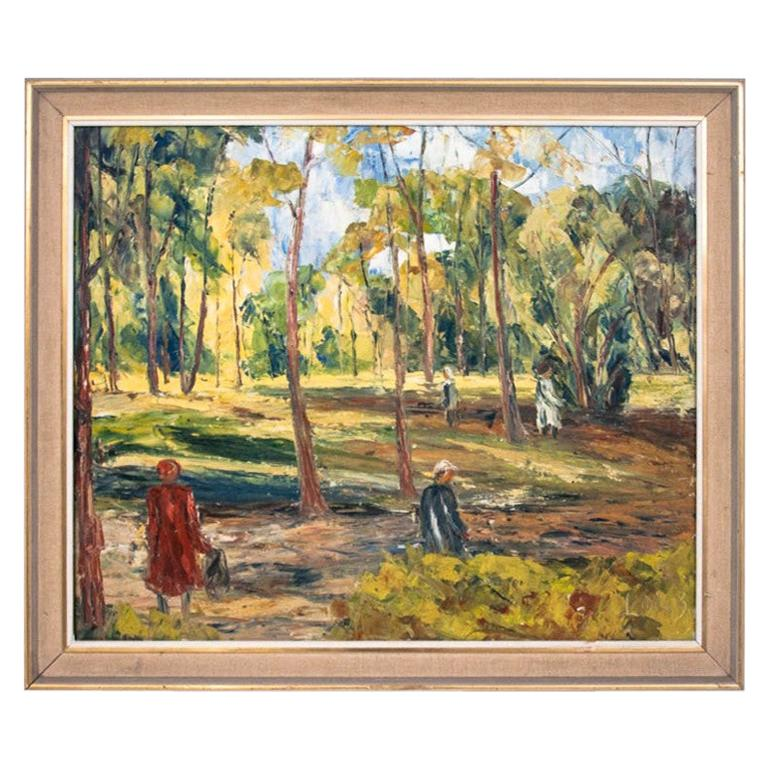 """Painting """"A Walk in the Park"""" For Sale"""