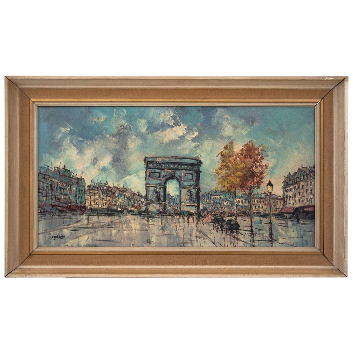 "Painting ""Arc de Triomphe in Paris""."