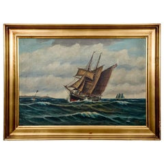 "Painting ""at Sea"", Scandinavia, Early 20th Century"