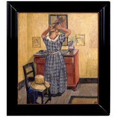 Painting by a European Artist, Oil on Canvas, Knud Ove Hilkier, circa 1900