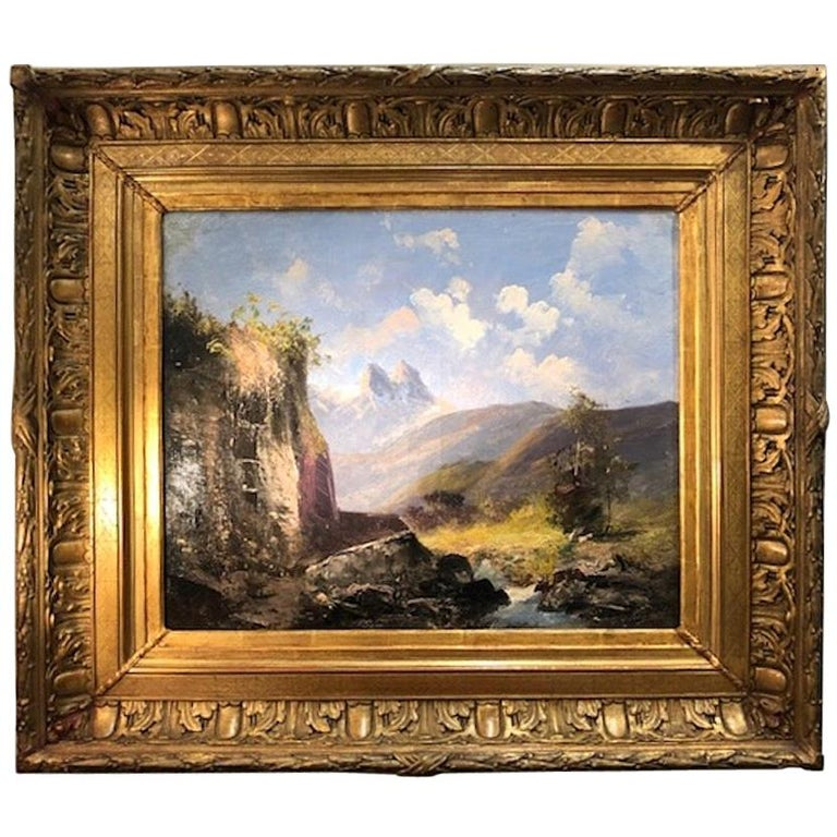 Painting by Alfred Godchaux For Sale