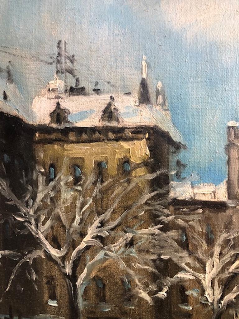 Painting by Berkes Antal For Sale 4