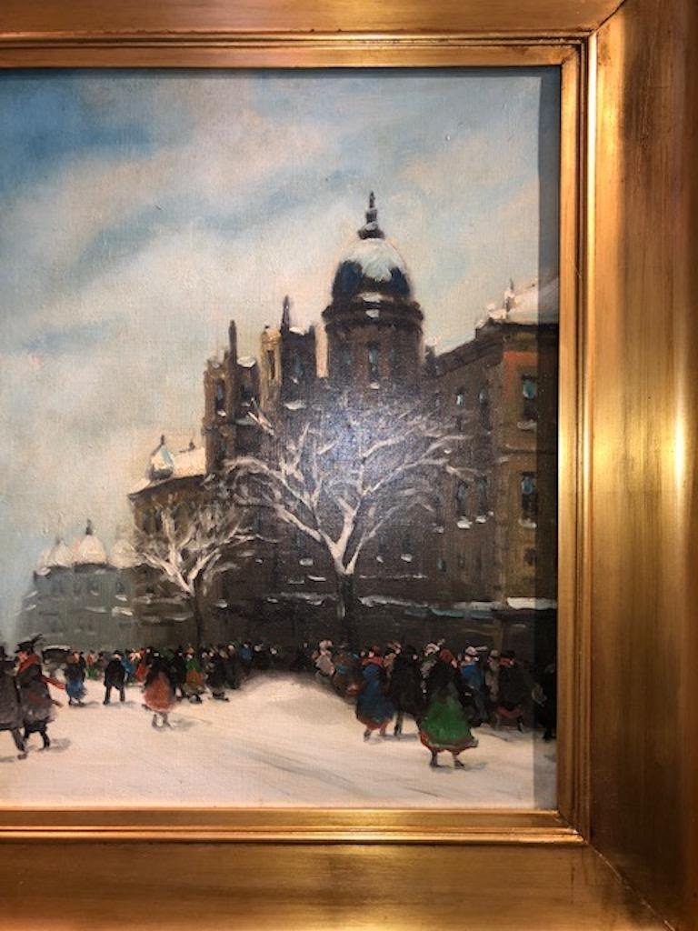 Hungarian Painting by Berkes Antal For Sale