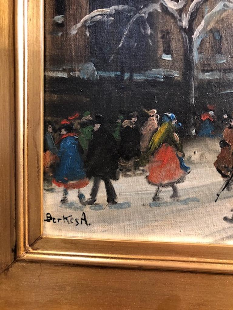 Early 20th Century Painting by Berkes Antal For Sale