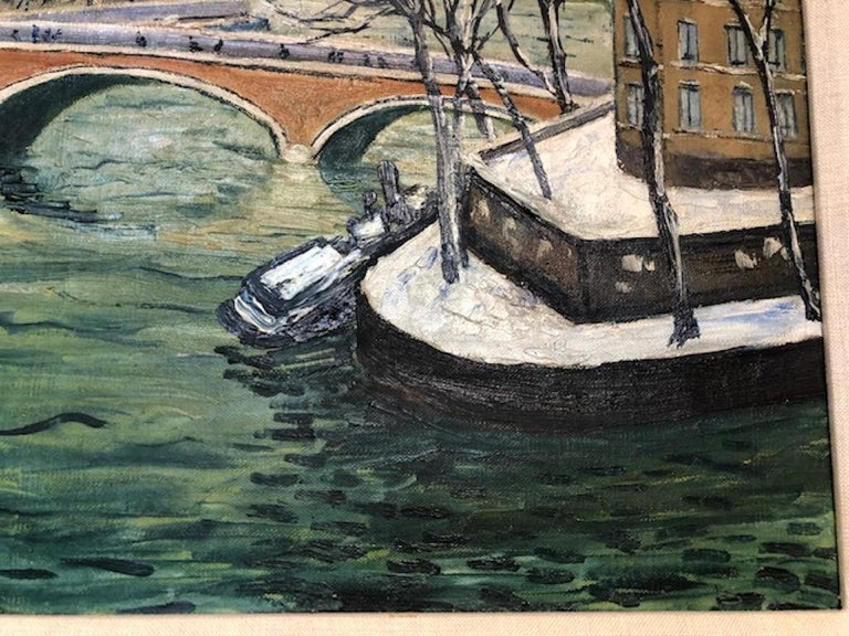 Painting by Elisee Maclet In Good Condition For Sale In Houston, TX