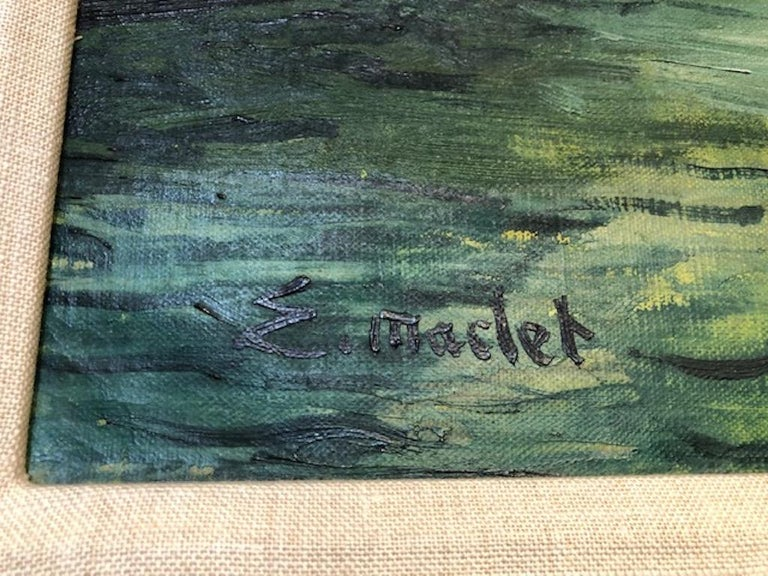 Canvas Painting by Elisee Maclet For Sale