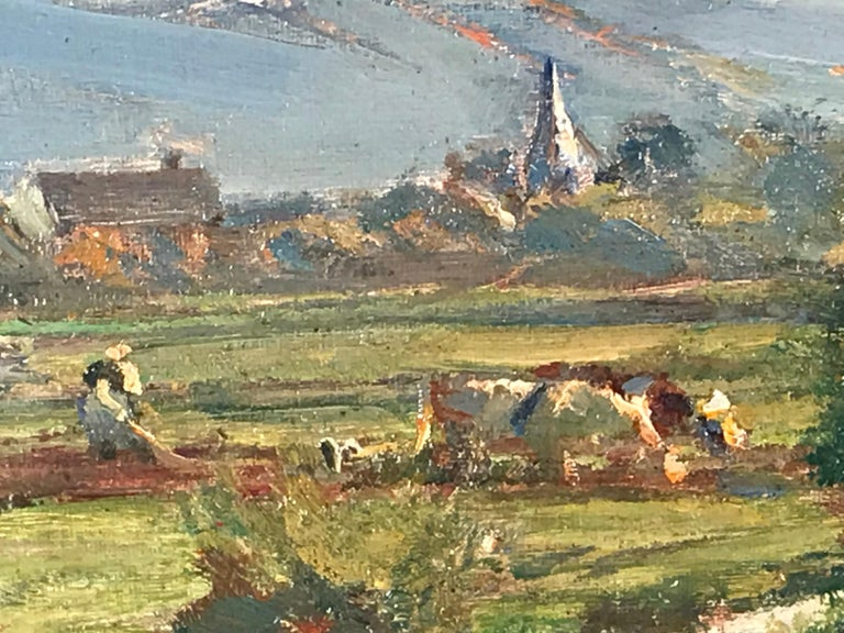 Barbizon School Painting by Friedrich Eckenfelder 'Berne 1861-1938 Balingen' For Sale