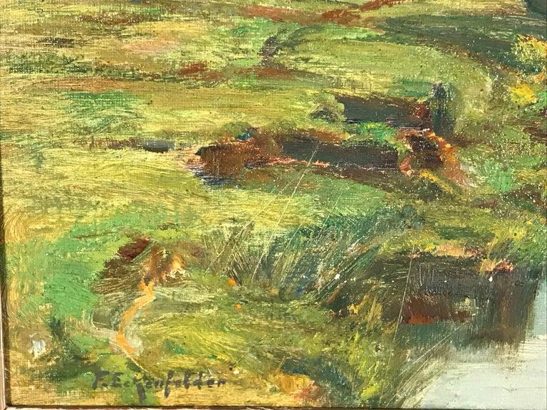 German Painting by Friedrich Eckenfelder 'Berne 1861-1938 Balingen' For Sale