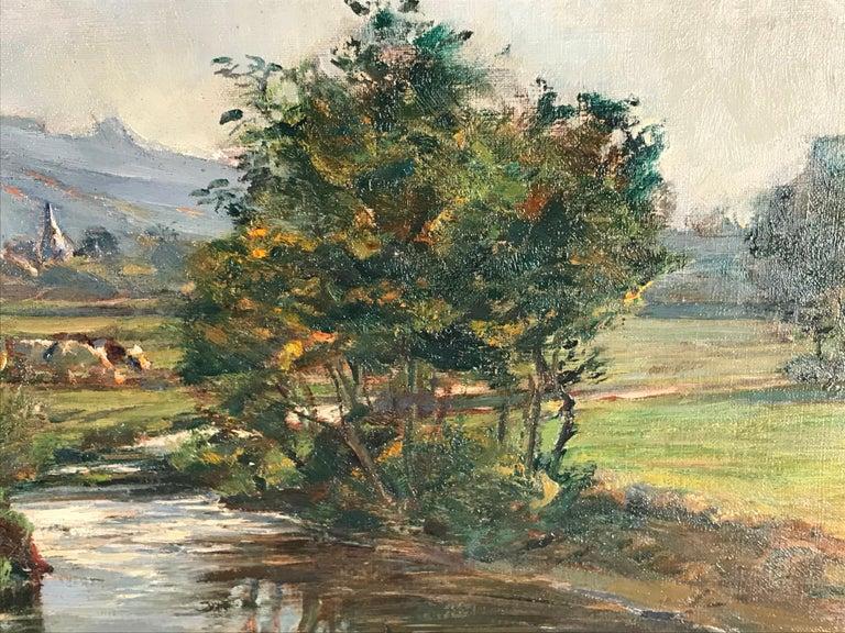 Painting by Friedrich Eckenfelder 'Berne 1861-1938 Balingen' In Good Condition For Sale In Belmont, MA