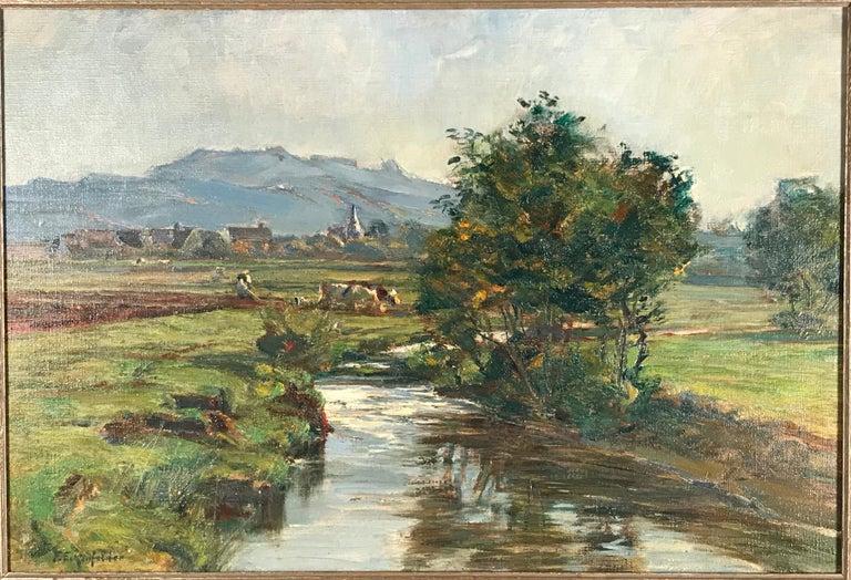 Late 19th Century Painting by Friedrich Eckenfelder 'Berne 1861-1938 Balingen' For Sale