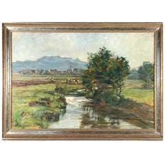 Painting by Friedrich Eckenfelder 'Berne 1861-1938 Balingen'