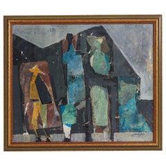 Painting by Håkan Engström, 1908-1987