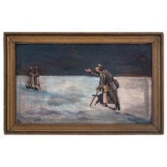 """Painting by Józef Naborowski """"The Soldiers"""""""