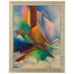 Painting by Laura Elston Glenn '1880-1952', USA, 1950s
