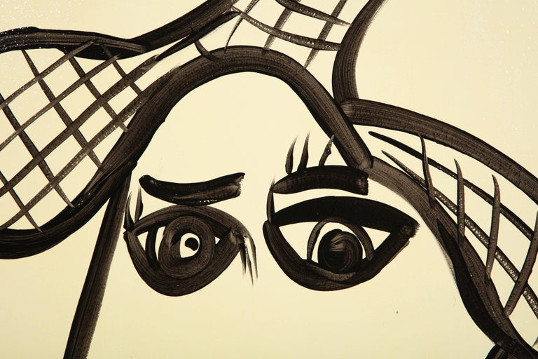 Mid-20th Century Painting by Peter Keil, Mid-Century Modern Art, Black and White, c 1964, Art For Sale