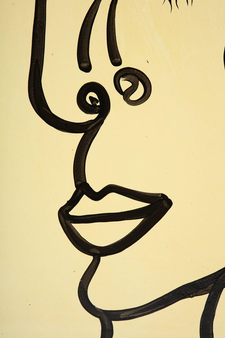 Mid-20th Century Painting by Peter Keil, Mid-Century Modern Art, Black and White, circa 1957, Art For Sale