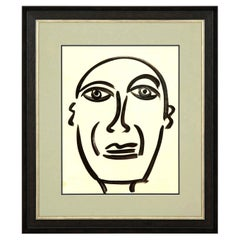 """Painting by Peter Keil, Mid-Century Modern Art, circa 1959, """"Picasso"""", Art"""
