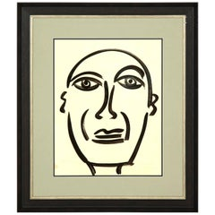 Painting by Peter Keil, Midcentury, circa 1959, Modern Art, New Frame