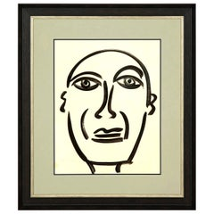 """Painting by Peter Keil, Midcentury Modern Art, circa 1959, """"Picasso"""", Art"""