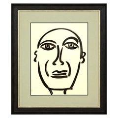 "Painting by Peter Keil, Midcentury Modern Art, circa 1959, ""Picasso"", Modern Art"