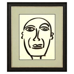 "Painting by Peter Keil, Midcentury Modern Art, circa 1959, ""Picasso"", Modern"