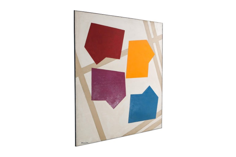 Painting by René Roche, 1979, contemporary painting, post-war artwork, graphic artwork.