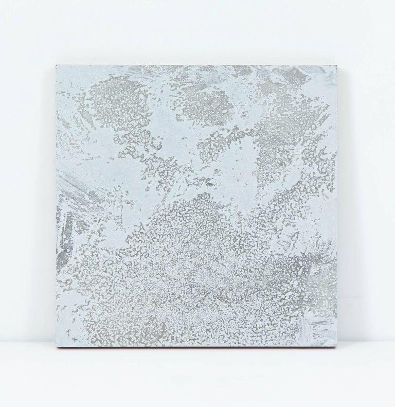 Decorative silver painting by William Kozar, 2008, Canada.