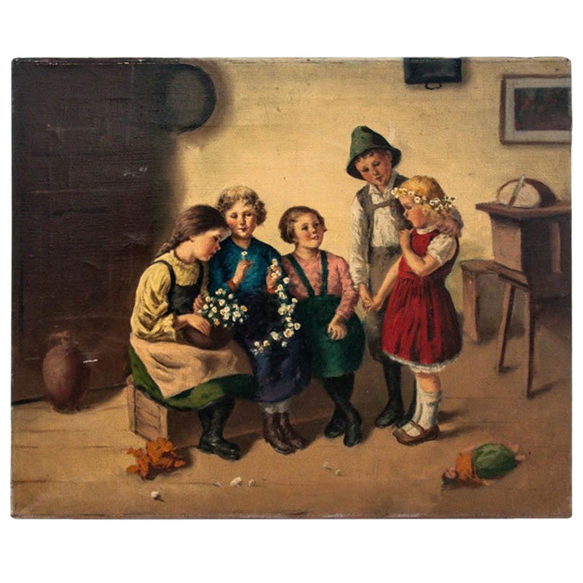 "Painting ""Children from Bavaria"""