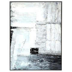 Painting, Contemporary Art, Grey, Black and White, Modern Art