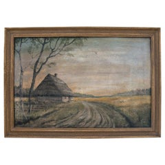 """Painting """"Cottage Near the Field"""""""