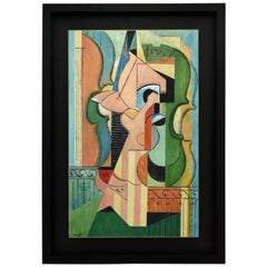 Painting Cubist Composition with Violins Petroff