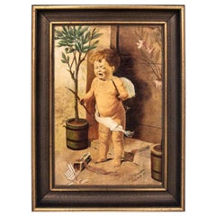 """Painting """"Cupid with a broken bow"""""""