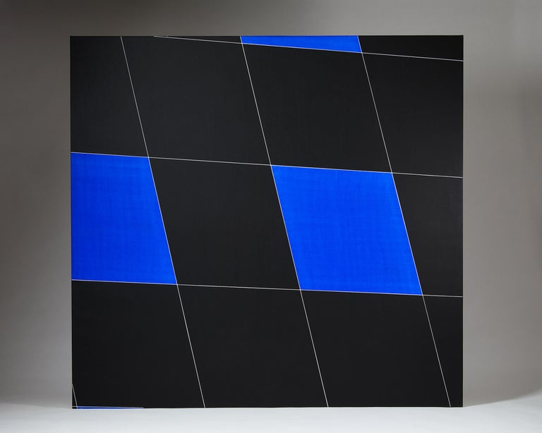 "Painting ""Endless wall"" by Einar Höste, Sweden, 1986 In Good Condition For Sale In Stockholm, SE"