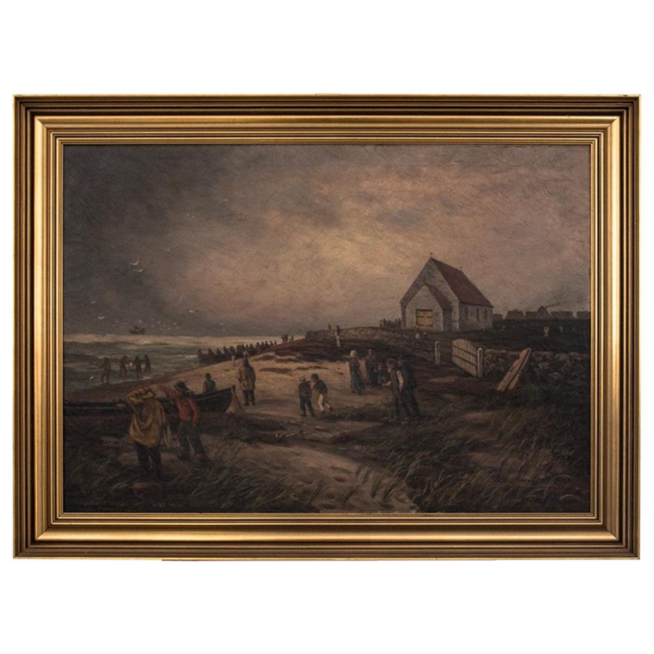 "Painting ""Fishermen on the beach"""