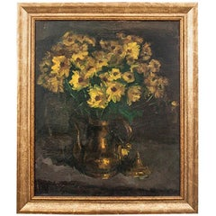 "Painting ""Flowers in a Pitcher"" Poland, Early 20th Century"