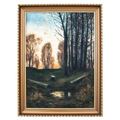 """Painting """"Forest"""", Oil on Canvas, Mid. XX Century"""