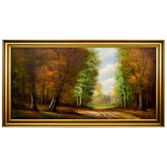 "Painting ""Forest Road"", Germany, Early 20th Century"